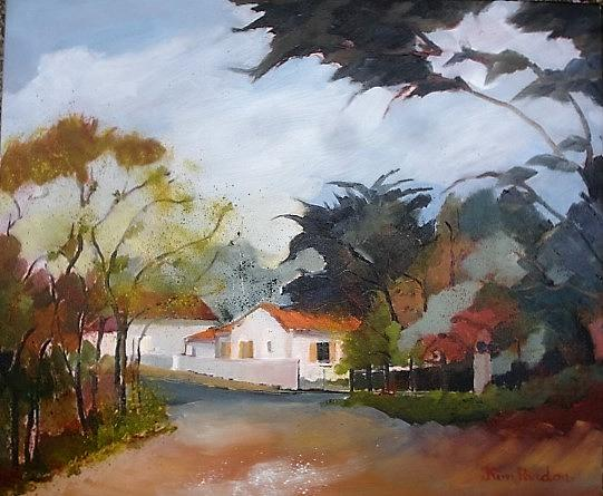 Village By The Seaside Painting