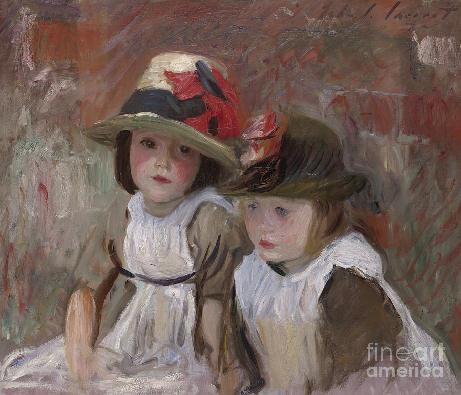 Village children 1890 painting by john singer sargent for Paintings of toddlers
