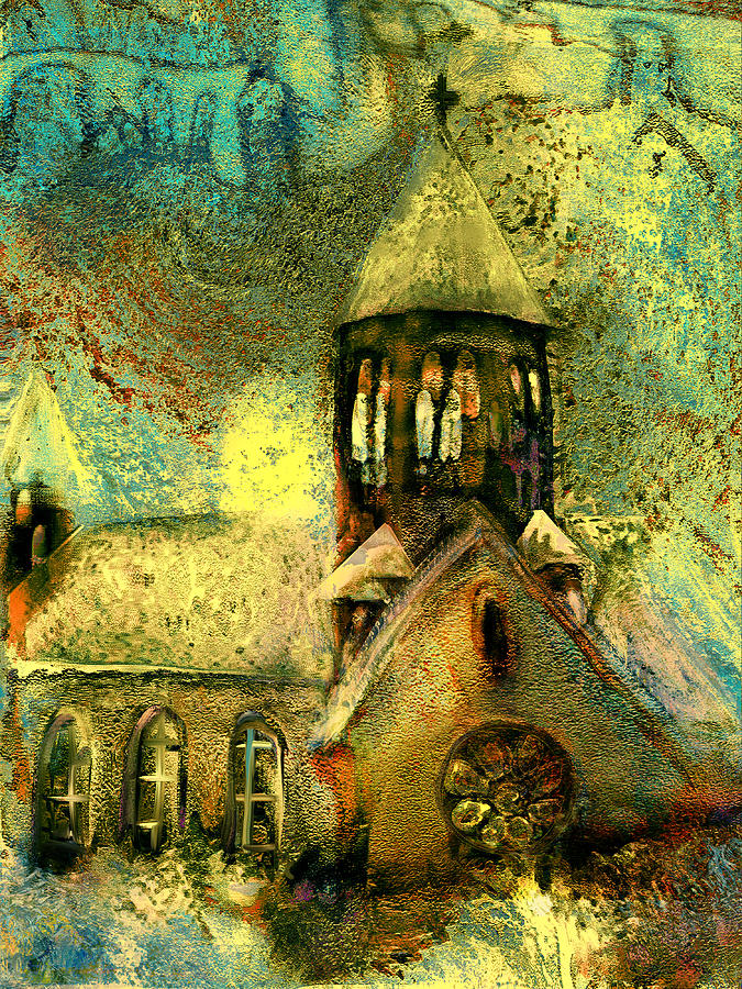 Village Painting - Village Church by Anne Weirich