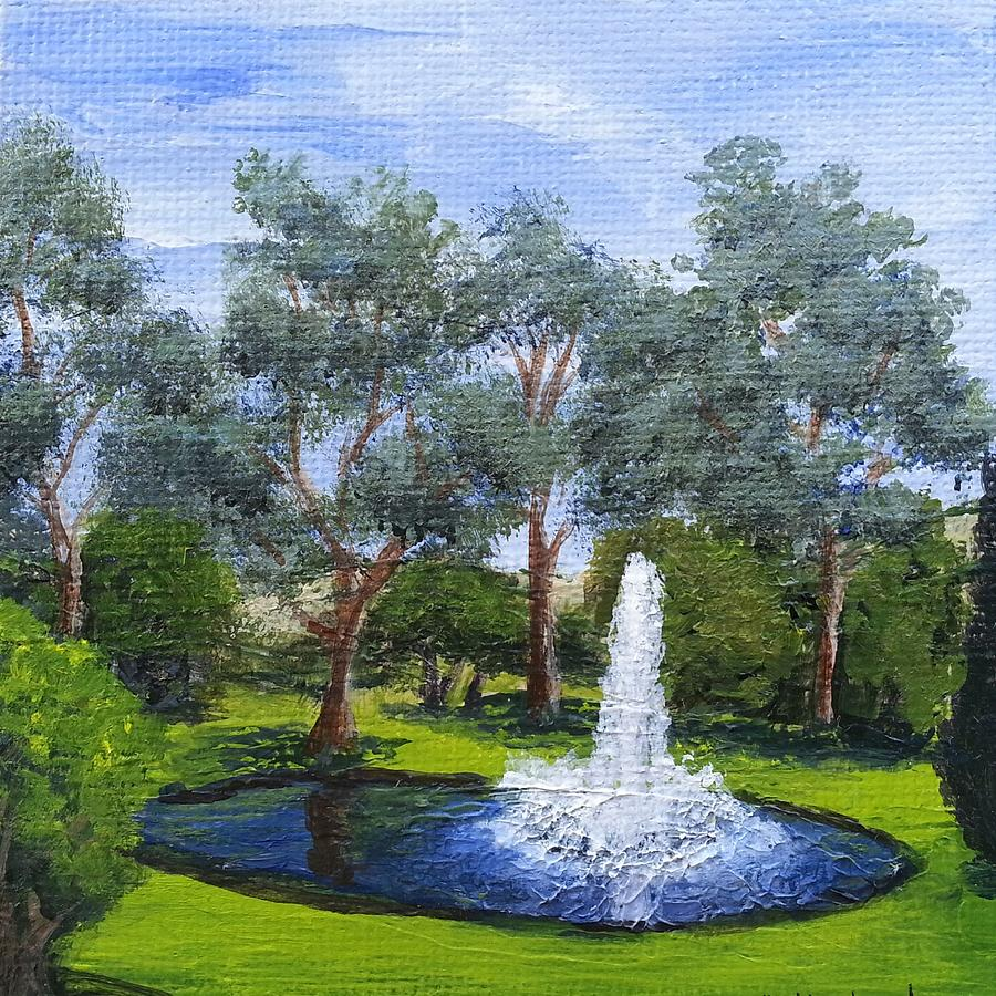 Village Fountain by Mishel Vanderten