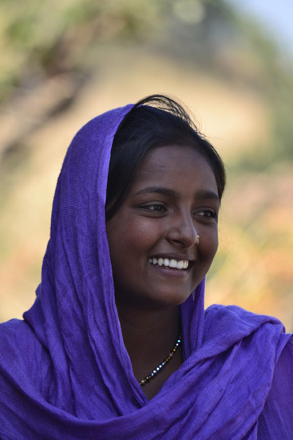 Portrait Photograph - Village Girl by Atul Daimari