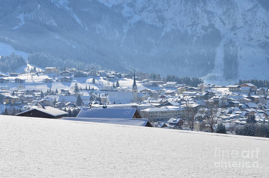 Village In Winter Photograph
