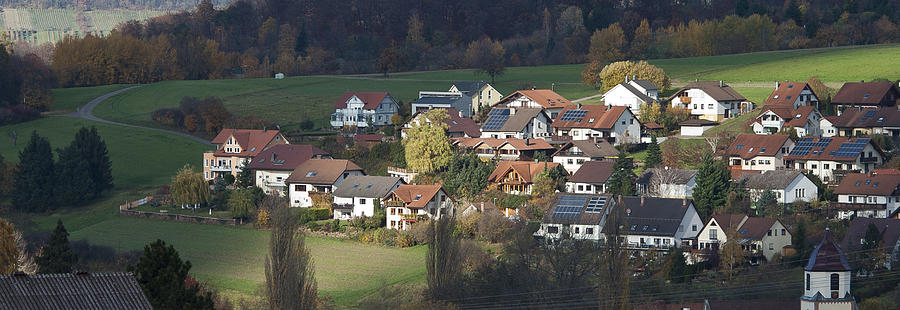 Color Image Photograph - Village Of Residential Homes In Germany by Greg Dale