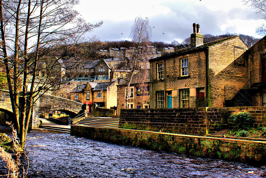 Water Photograph - Village On The River by Jacqui Kilcoyne