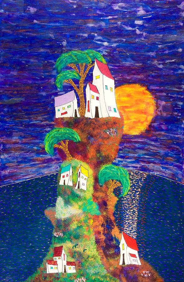 Acrylic Painting - Village Retreat 15-16 by Patrick OLeary