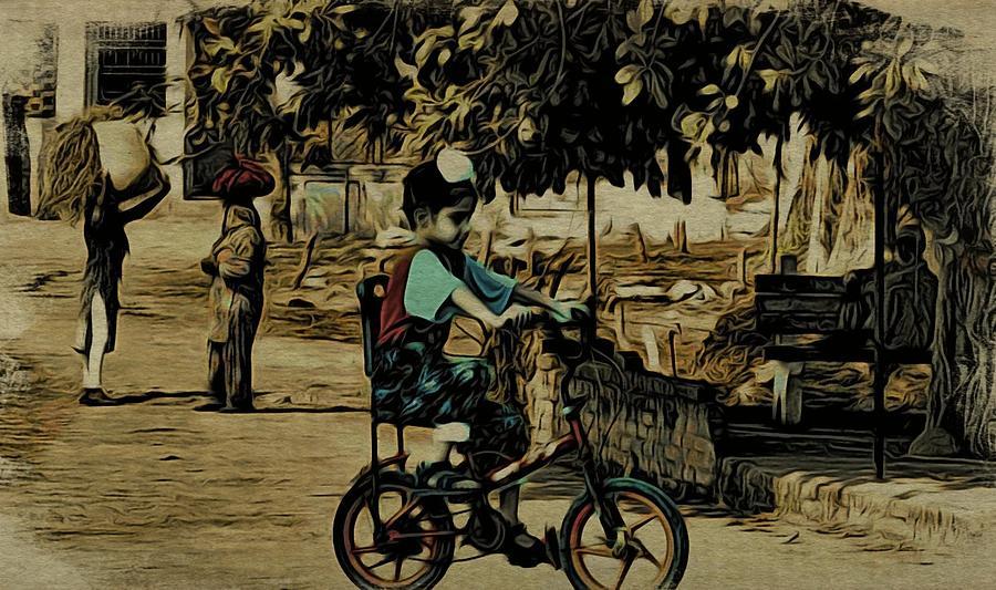 India Digital Art - Village Rides by Bliss Of Art