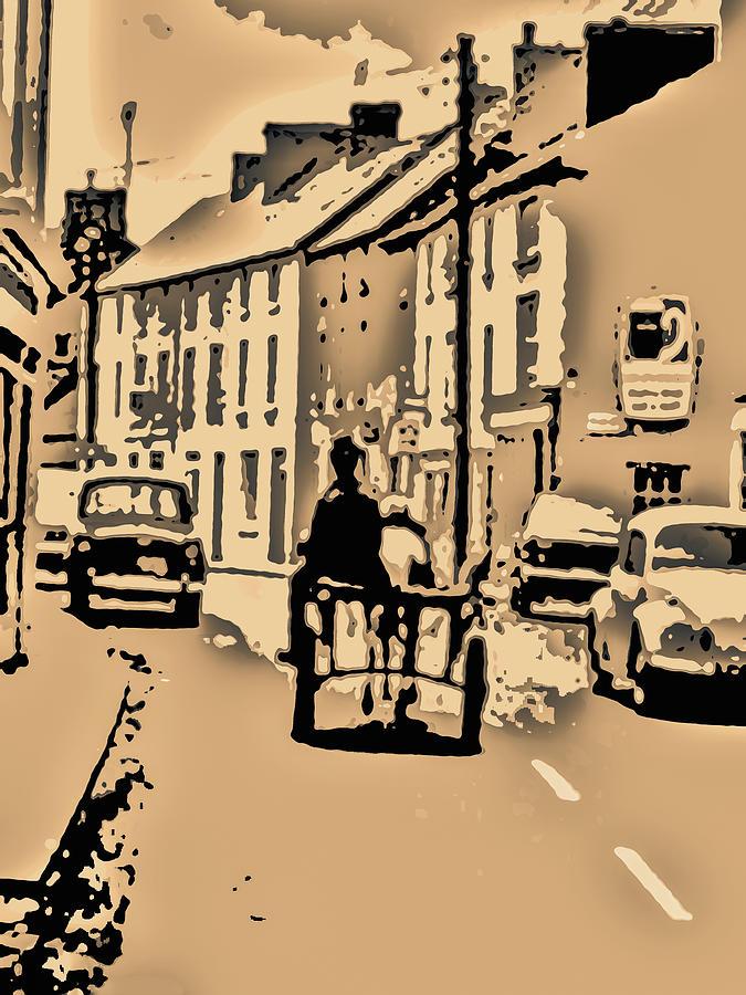 Caricature Digital Art - Village Scene Ireland by Zsuzsanna Szabo