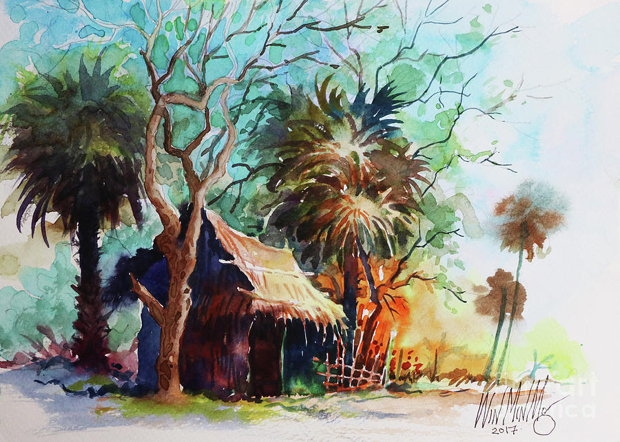 Landscape Painting - Village by Win Min Mg
