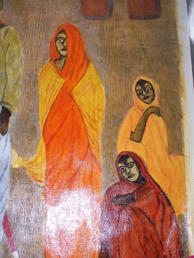 Woman Painting - Village Women by Sarika Hemane