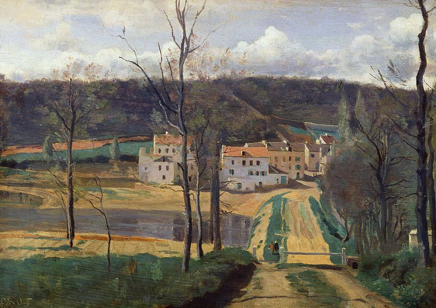 French Painting - Ville Davray by Jean Baptiste Camille Corot