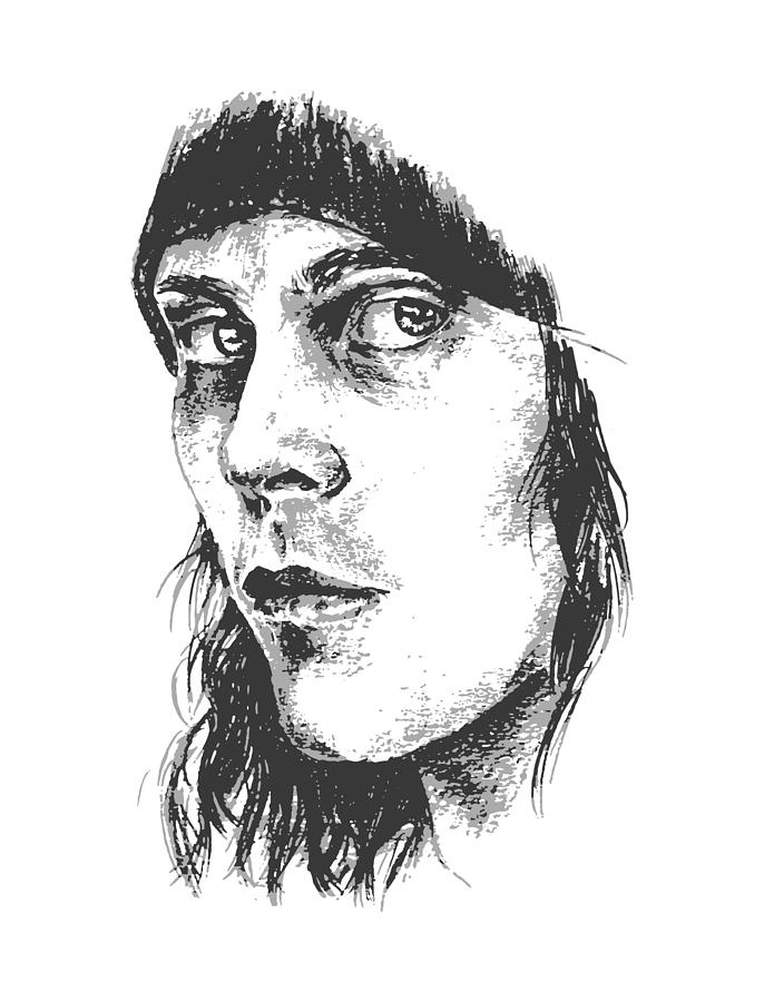 Ville Valo Drawing - Ville Valo Portrait by Alexandra-Emily Kokova