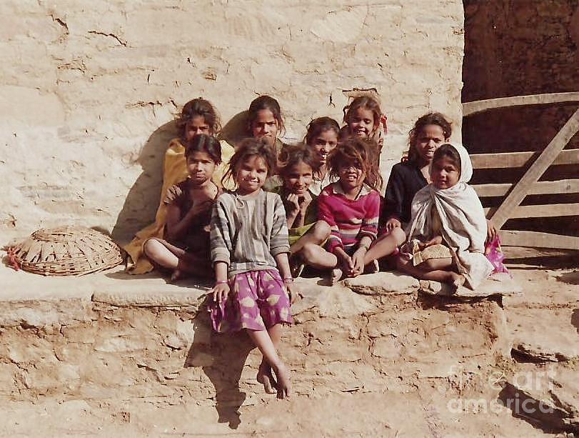 Girls Photograph - Villeg Girls by Lalit Sharma
