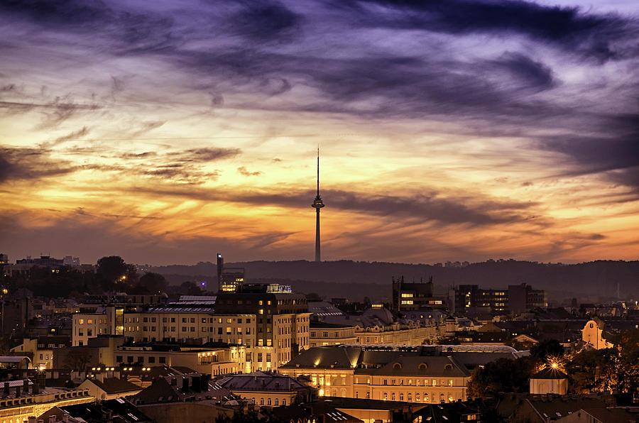 Lithuania Photograph - Vilnius Tv Tower by Tomas Donauskas