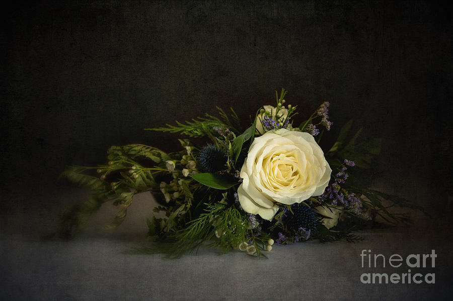 Background Photograph - Vinatge Bouquet by Jane Rix