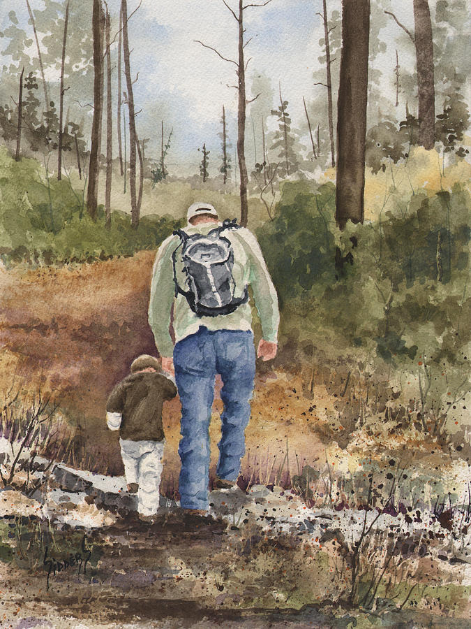 Walk Painting - Vince And Sam by Sam Sidders