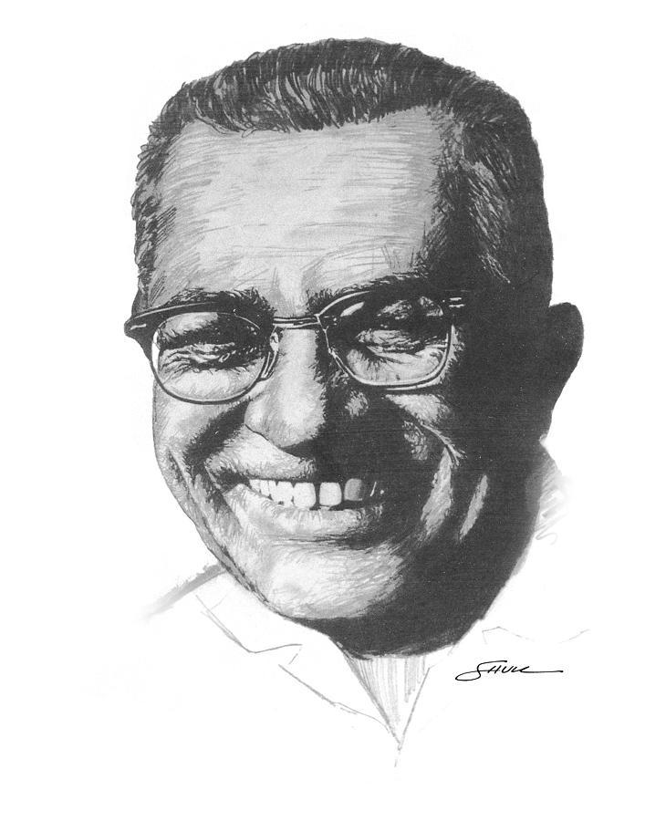 Vince Lombardi Drawing - Vince Lombardi by Harold Shull