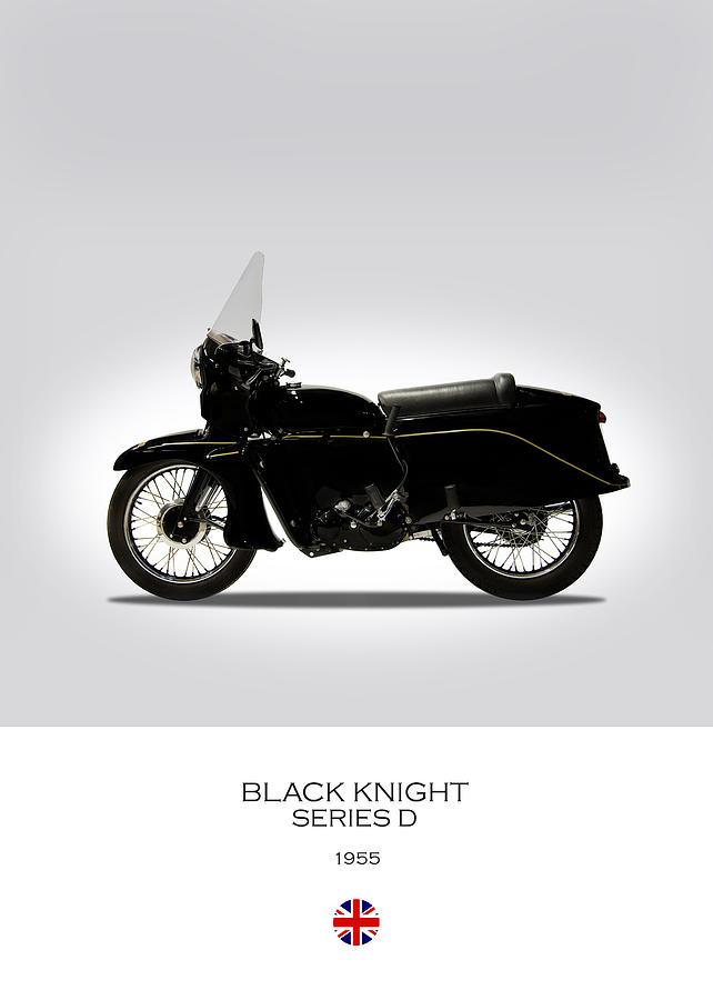 Vincent Black Knight 1955 Photograph - Vincent Black Knight 1955 by Mark Rogan