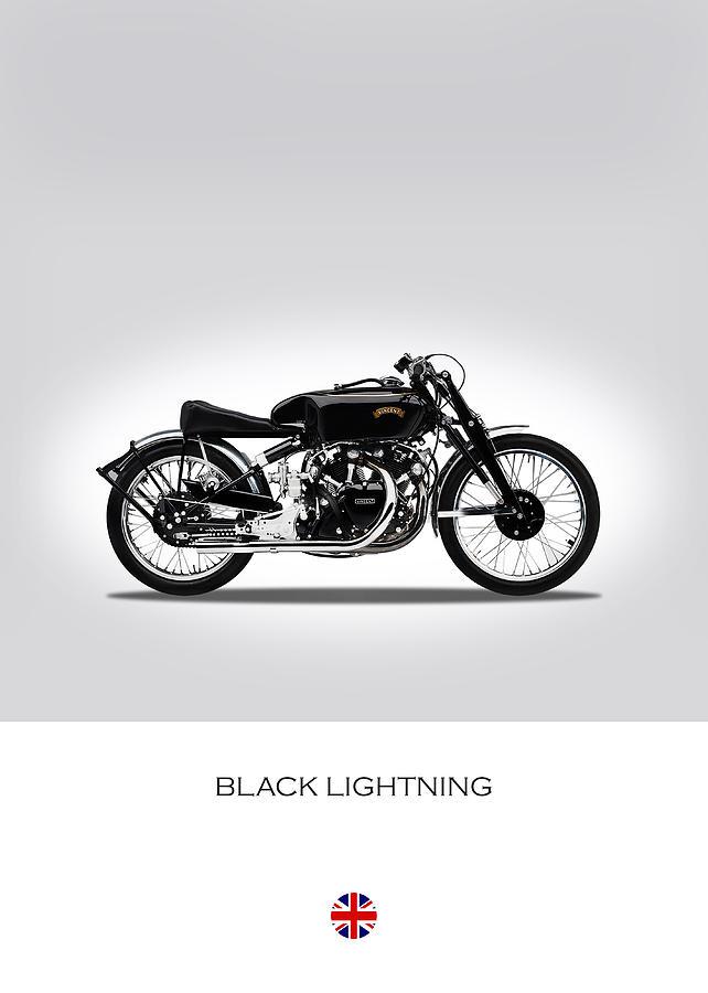 Vincent Black Lightning Photograph - Vincent Black Lightning by Mark Rogan