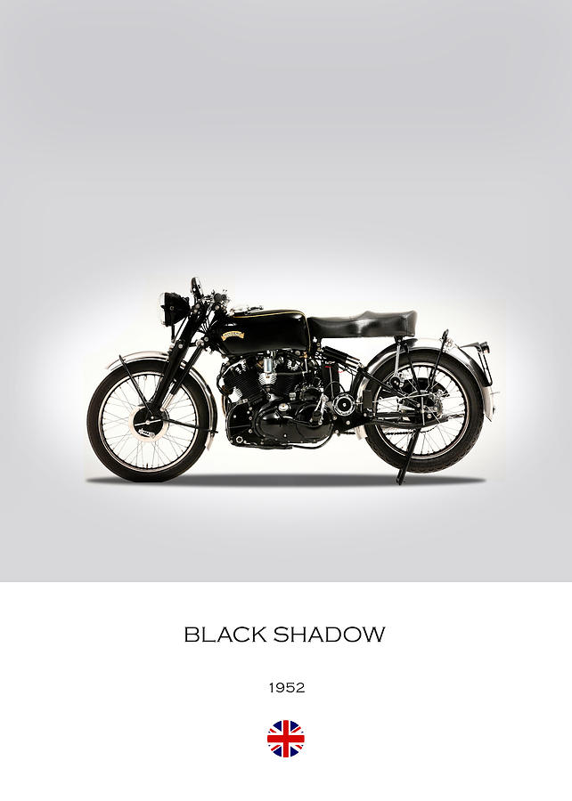 Vincent Black Shadow 1952 Photograph - Vincent Black Shadow 1952 by Mark Rogan