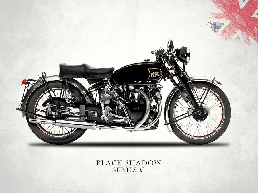 Vincent Black Shadow Photograph - Vincent Black Shadow by Mark Rogan