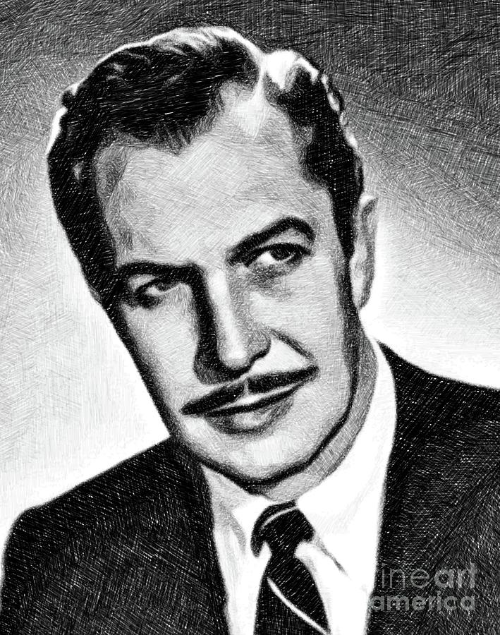 Vincent Price, Vintage Actor By Js Drawing
