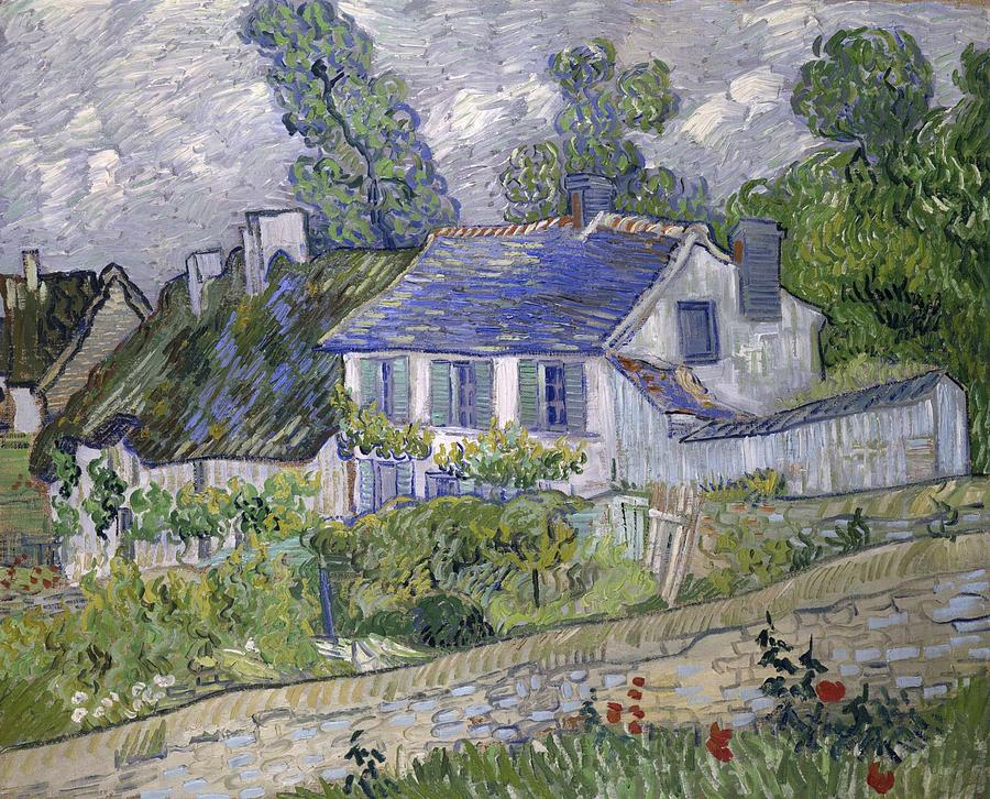 Nature Painting - Vincent Van Gogh, Houses At Auvers by Artistic Panda