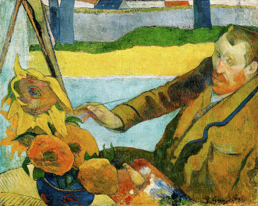 Vincent Van Gogh Painting Sunflowers Painting By Eugene Henri Paul