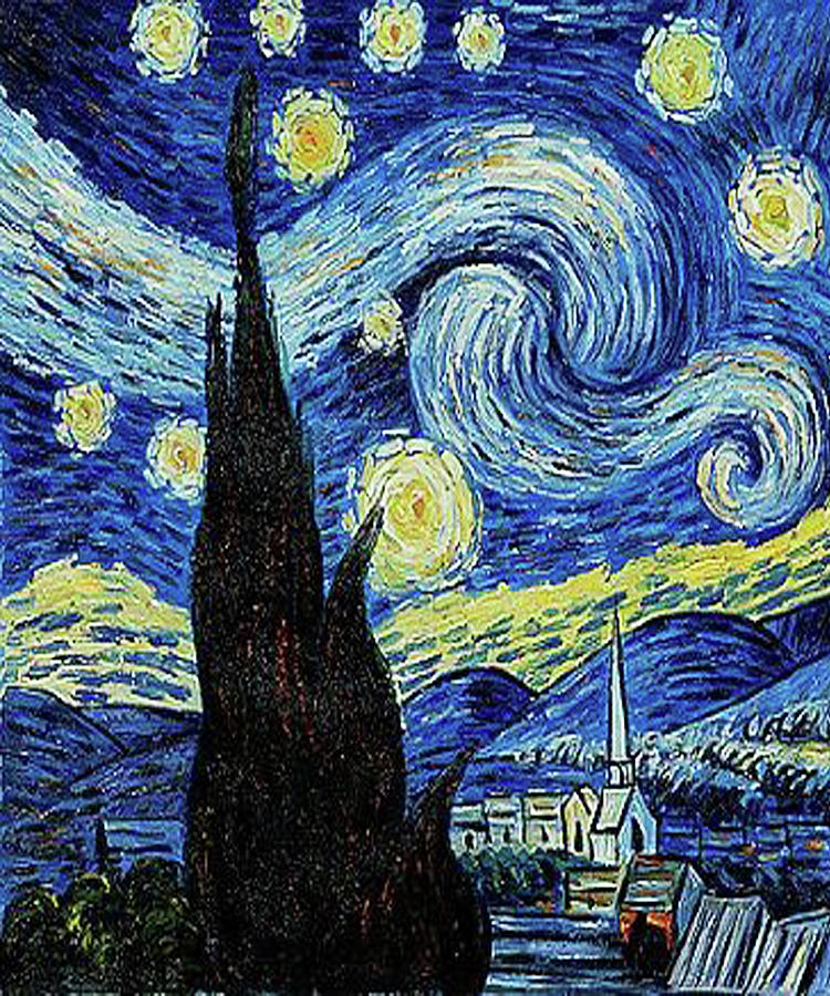 Vincent Van Gogh Starry Night Painting Painting By Tony Rubino