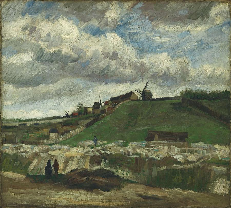 Nature Painting - Vincent Van Gogh, The Hill Of Montmartre With Stone Quarry, Paris by Artistic Panda