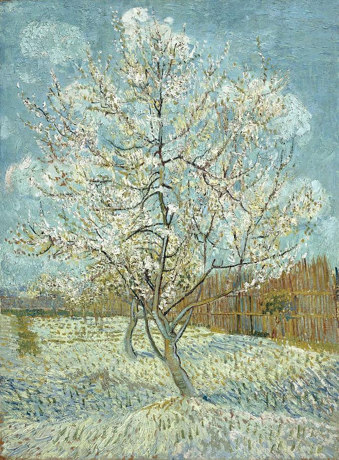 Nature Painting - Vincent Van Gogh, The Pink Peach Tree by Artistic Panda