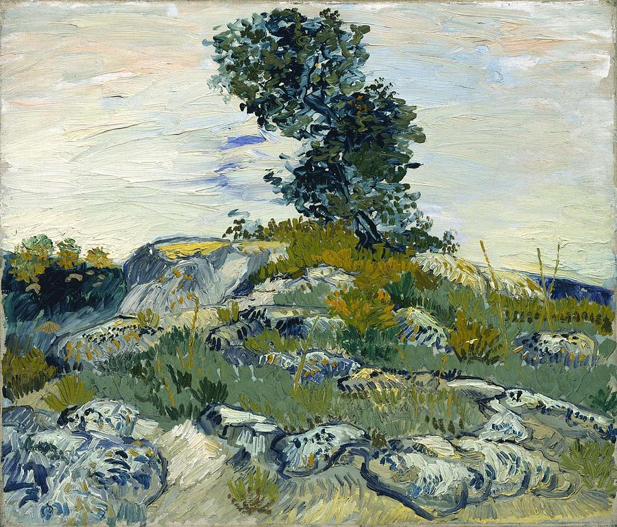 Nature Painting - Vincent Van Gogh, The Rocks by Artistic Panda