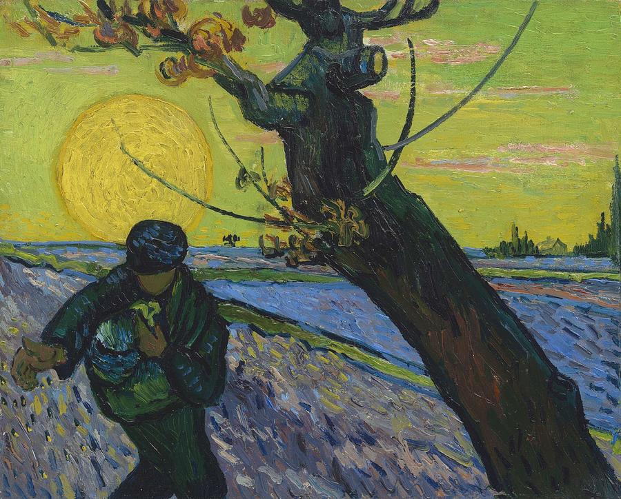 Nature Painting - Vincent Van Gogh, The Sower by Artistic Panda
