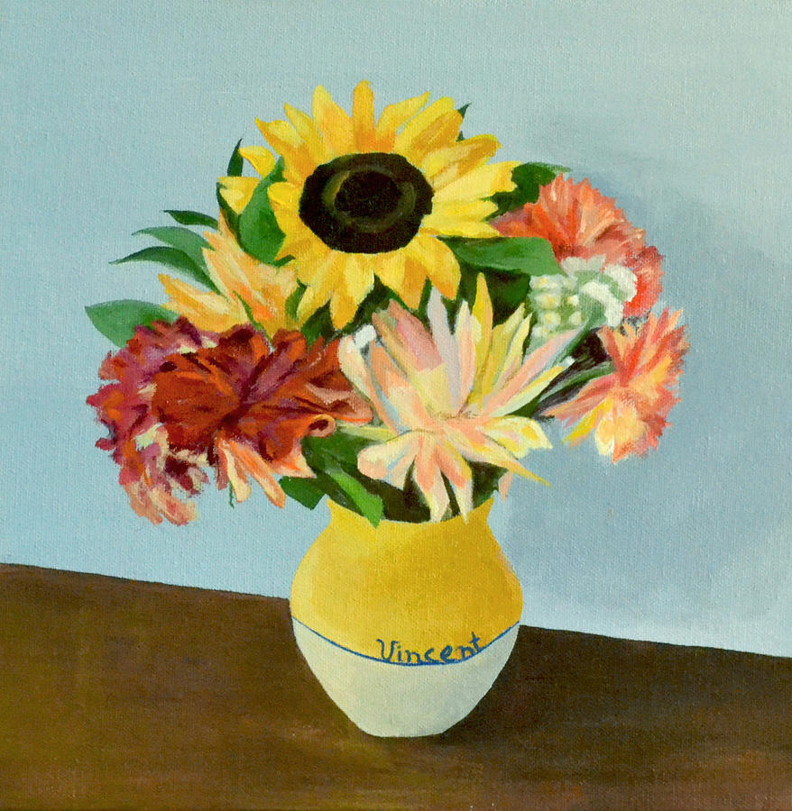 Van Gogh Painting - Vincents Vase by Mary Chant