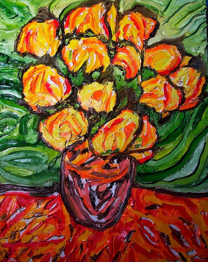Van Gogh Painting - Vinces Flowers by Ira Stark