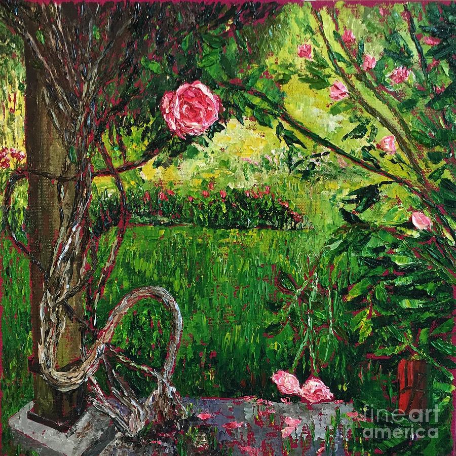 Vine and Rose by Linda J Bean