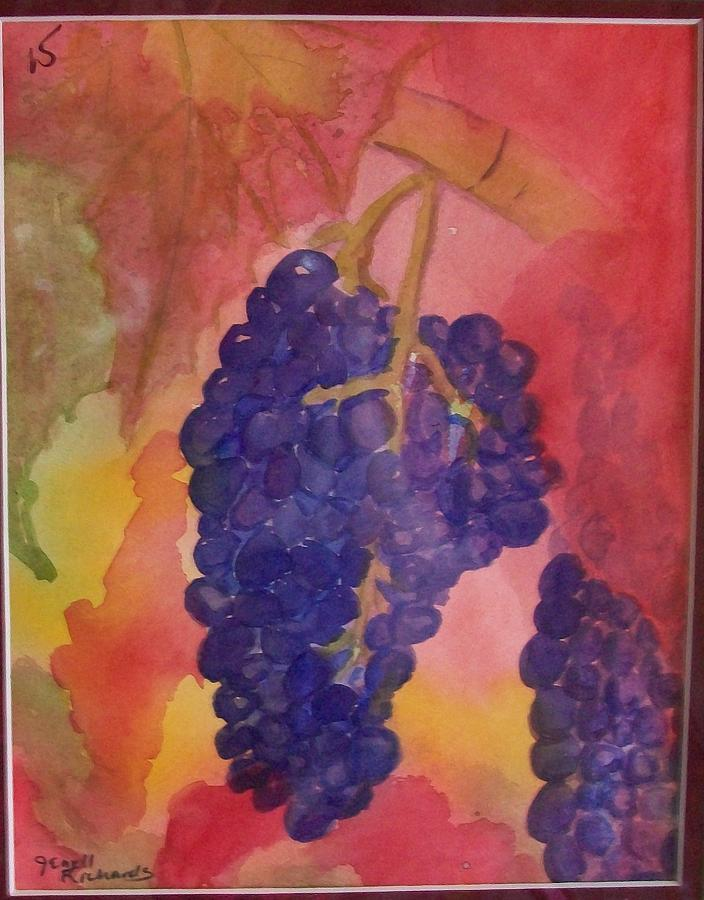 Fruit Painting - Vine Time by Jenell Richards