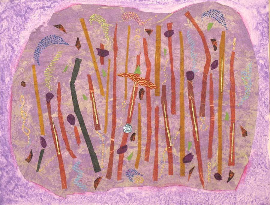 Abstract Painting - Vines by Lisa Mee