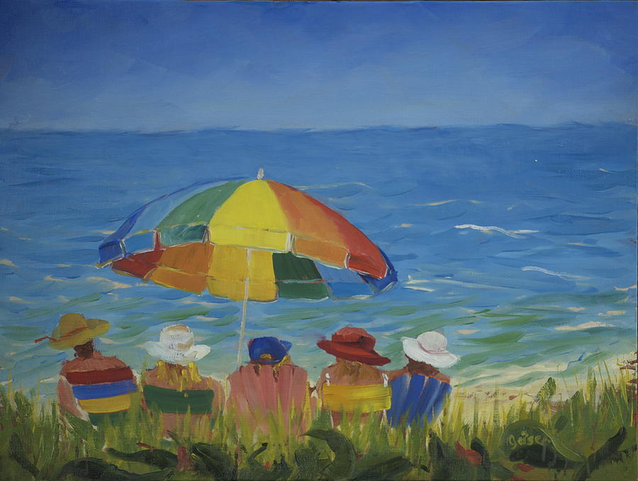 Beach Painting - Vineyard Afternoon by Pamela Geiger