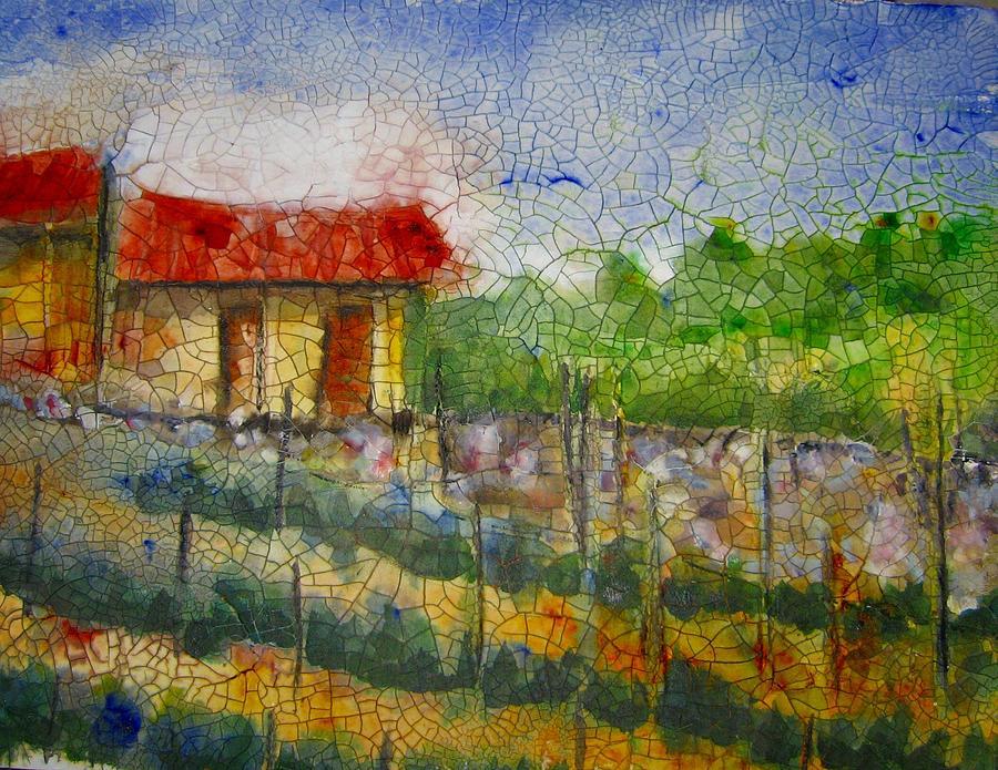 Vines Painting - Vineyard by Anne Duke