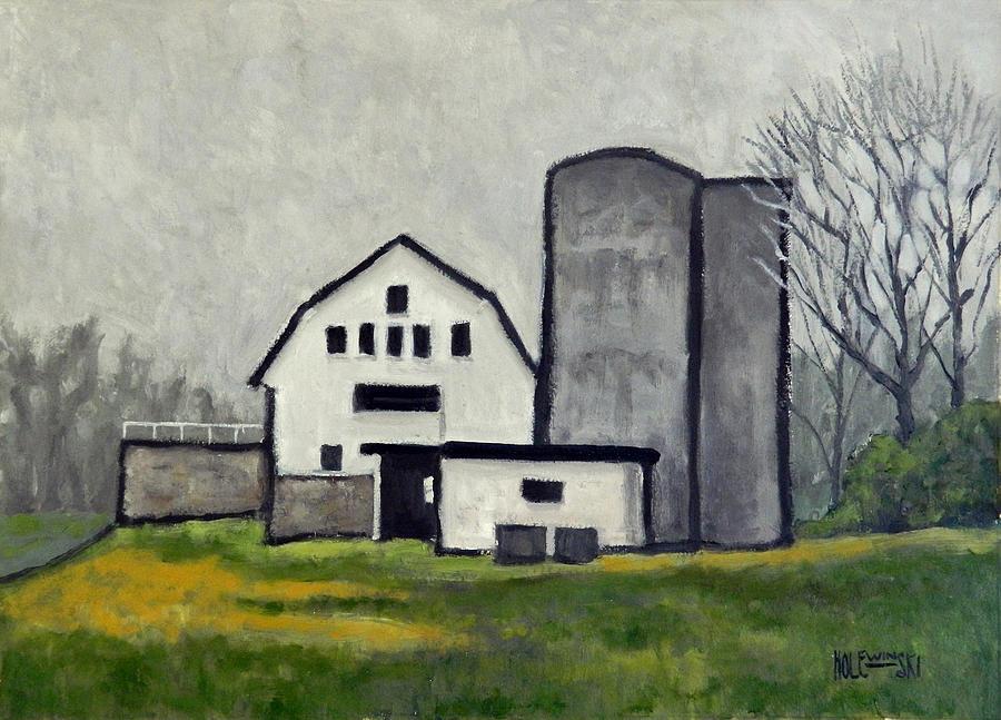 Barn Painting - Vineyard Barn by Robert Holewinski