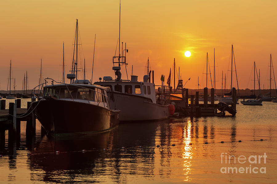 America Photograph - Vineyard Haven Harbor Sunrise II by Clarence Holmes