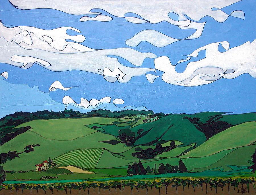 Vineyard Landscape 1 by John Gibbs