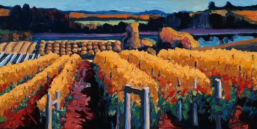 Wine Painting - Vineyard Light by Christopher Mize