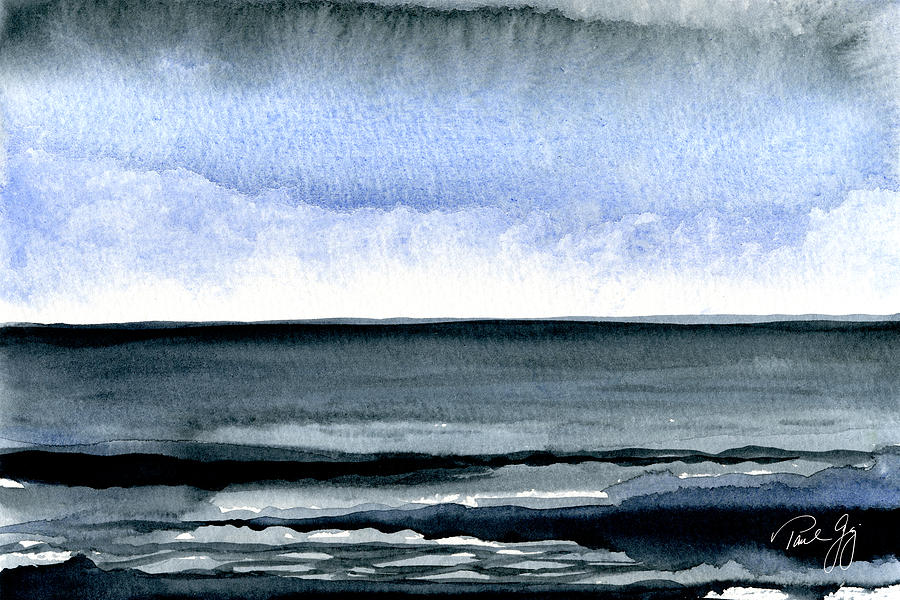 Seascape Painting - Vineyard Squall by Paul Gaj
