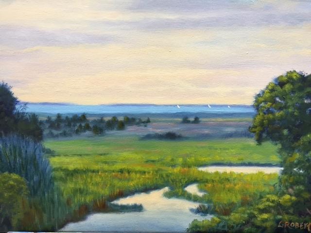 Marthas Vineyard Painting - Vineyard Vista by Laura Roberts