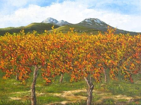 Vineyards Painting - Vineyards by Marius Prinsloo
