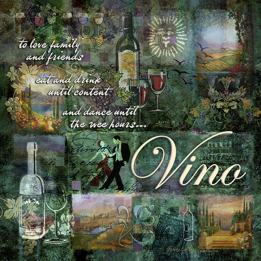 Vino Digital Art - Vino by Evie Cook