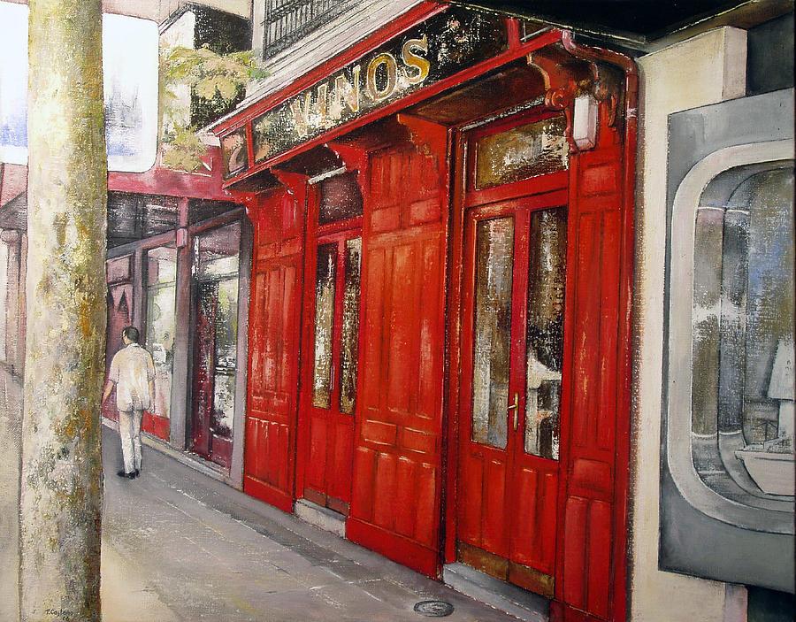 Urban Painting - Vinos Sagasta by Tomas Castano