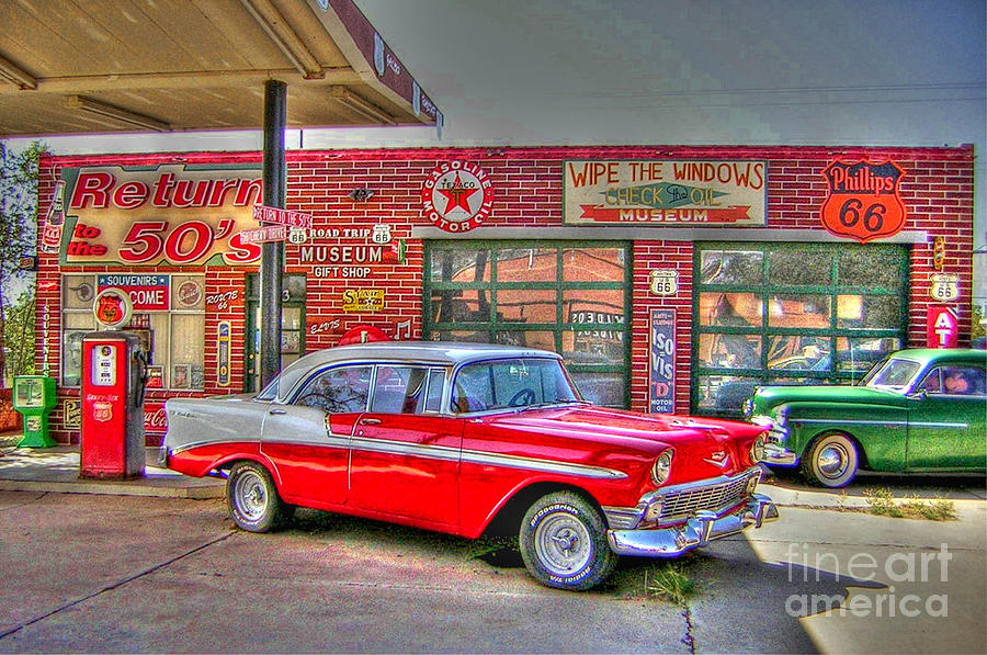 Vintage 50 S Route 66 Photograph By Tommy Anderson
