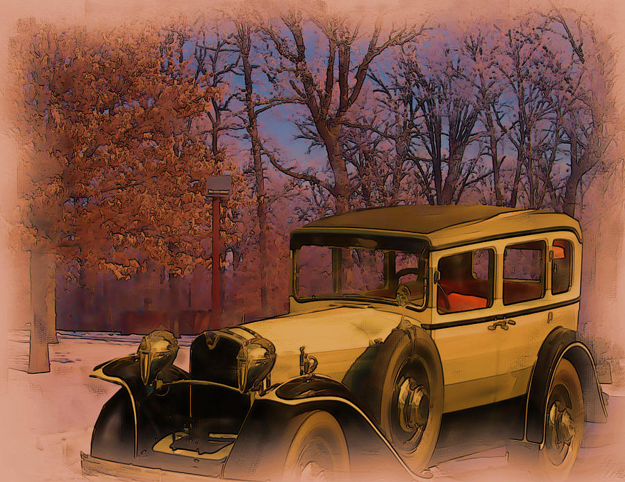 Vintage Auto in Winter by Tristan Armstrong